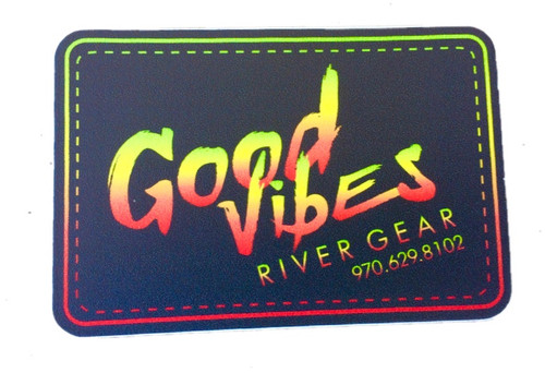 Good Vibes Tie Dye Sticker