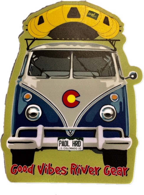 Good Vibes Front Bus Sticker
