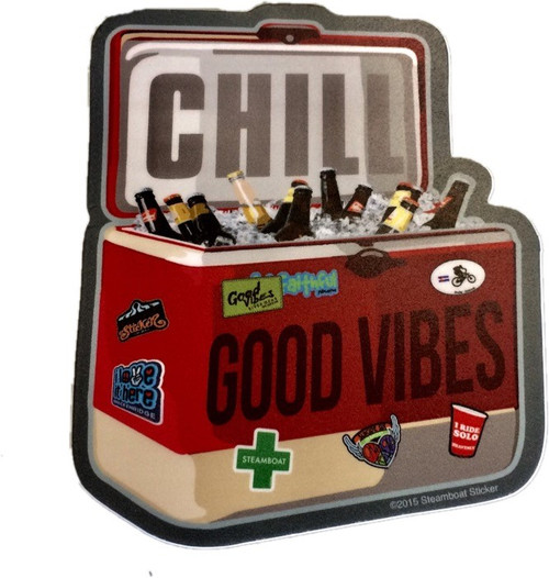 Good Vibes Cooler Sticker