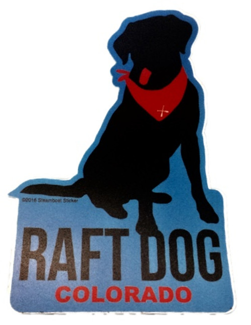 Raft Dog Colorado Sticker