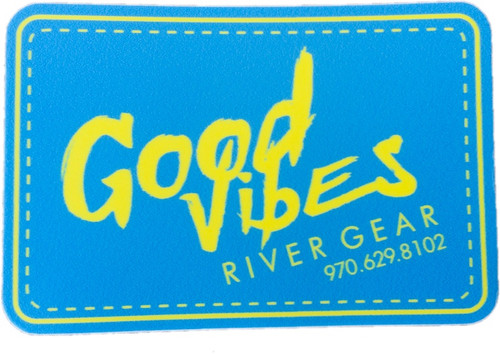 Good Vibes River Blue/Yellow Sticker Small