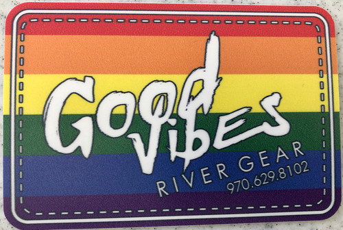 Good Vibes Rainbow Sticker