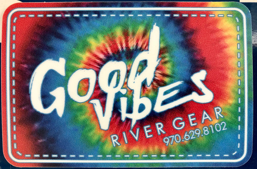 Good Vibes Tie-Dye Swirl Sticker