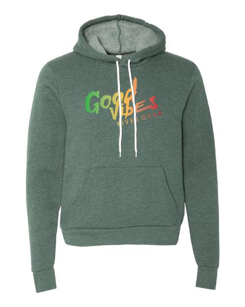 Good Vibes Green Hoodie