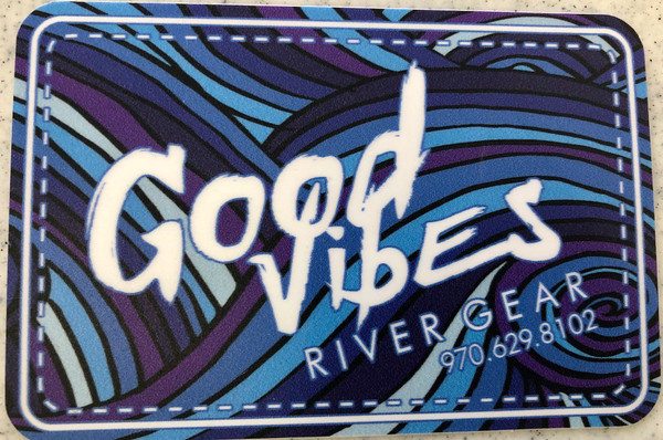 Good Vibes Blue/Purple Swirl Sticker