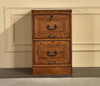Two Drawer Solid Oak Wood File Cabinet For Home Office 18.5 Wide