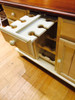 Buffet Server with Wine Rack