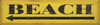 Wood Sign - Beach arrow yellow