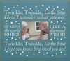 Twinkle, twinkle, little star. How I wonder what you are. Up above the world so high, like a diamond in the sky. Twinkle, twinkle, little star I hope you know how loved you are! Wood Picture Frame