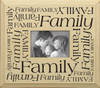 Wooden Picture Frame - Family