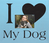 Wooden Picture Frame - I Love My Dog