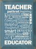 Teacher Wordle Wood Sign