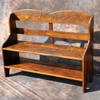 Rustic Reclaimed Wood Bench With Back 48L x 16D x 40H