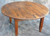 Rustic Reclaimed Wood Round 3' Coffee Table With French Leg