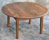 Rustic Reclaimed Wood Round 3' Coffee Table With Straight Leg