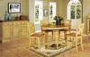 Chatham Pedestal Pub Table With Four X Back 24 inch Barstools Pecan and Almond Finish