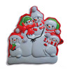 Snowman Family Of Five Personalized Ornament