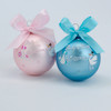 Baby's First Christmas Glass Ball Ornament Pink or Blue