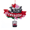 Just Engaged Personalized Ornament