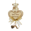 Baby's First Christmas Bear With Heart Personalized Ornament
