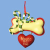 World's Best Dog Personalized Ornament 4 Inch With Red Ribbon to Hang