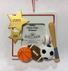 Sports Picture Frame Ornament Personalized Example