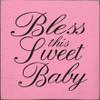 "kid's room sign kid€™s room nursery decoration nursery room housewarming gift baby€™s room baby shower gift gift ideas for baby shower boy€™s room decoration girl€™s room decoration   Bless This Sweet Baby 7""x 7"" Wood Sign"