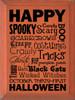 Wood Sign - Happy Halloween Wordle