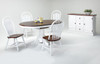 Solid Birch Oval Single Pedestal 42 x 54 Table + 4 Monarch Chairs