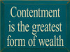 CUSTOM A Rich Person Is Not... 18x9 and Contentment Is The... 12x9