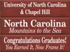 CUSTOM Congratulations Graduates / North Carolina / University Of North Carolina 9x36