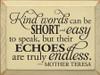 CUSTOM Kind Words... 9x12