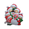 Family of 6 Personalized Ornament Making Snowman