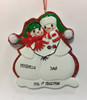 Snowman Family Of 2 Personalized Ornament Personalized Example As Shown