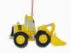Yellow Bulldozer Construction Truck Ornament