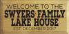 CUSTOM Swyers Family 9x18