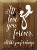CUSTOM I'll Love You Forever 9x12