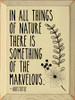In all things of nature there is something of the marvelous. - Aristotle Wooden Sign