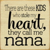There Are These Kids Who Stole My Heart, They Call Me Nana Wooden Sign