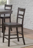 "Newport Steel Gray Ladderback 24"" Barstool"