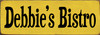 3.5x10 Sunflower board with Black text Wood Sign Debbie's Bistro