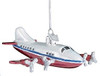 Personalized Ornament Glass Airplane Assorted 4.75 x4.75
