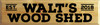 9x36 Butternut board with Black text  Walt's Wood Shed Est. 2018