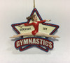 Gymnastics Girl Star 4.25 Inch Personalized Ornament Example