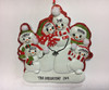 Snowman Family Of Six Personalized Ornament Example