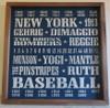 New York Yankees Baseball 18x18 inch Vintage Print Wood Sign