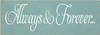 3.5x10 Sea Blue board with White text  Always & Forever...