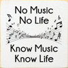 No Music, No Life  Know Music, Know Life