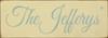 3.5x10 Cream board with Sea Blue text  The Jefferys'