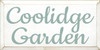 9x18 White board with Sea Blue text  Coolidge Garden